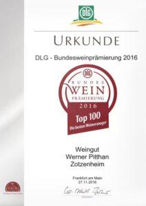 Urkunde Top 100 Weinerzeuger