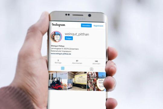 Weingut Pitthan jetzt auch auf Instagram